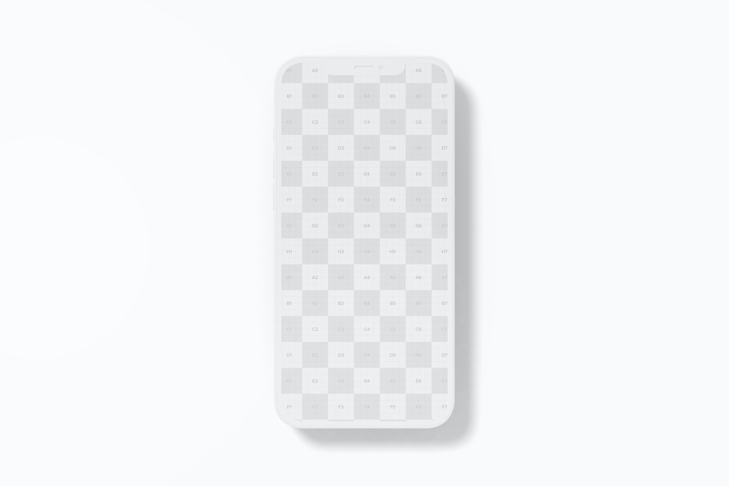 Clay iPhone 12 Mockup, Top View