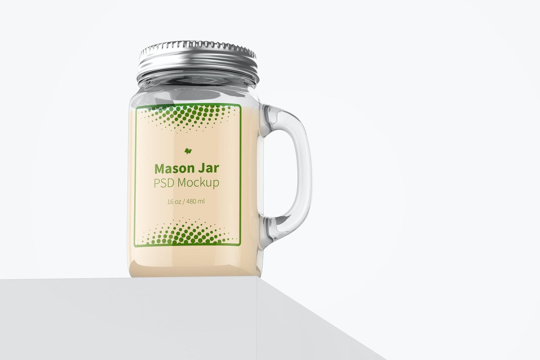 16 oz Mason Jar Mockup