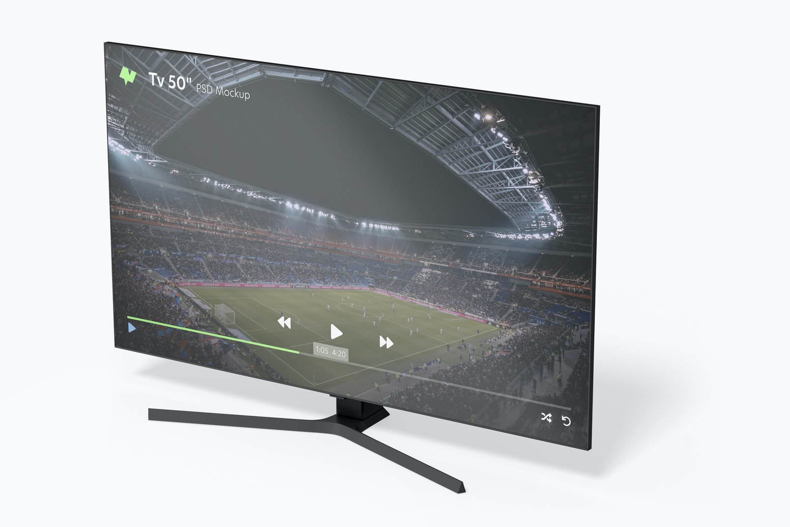 """Tv 50"""" Mockup, Right View"""