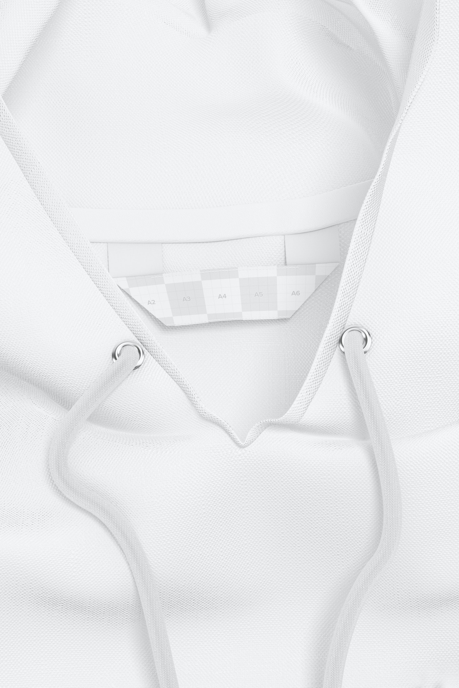 Sewn-In Label on Hoodie Mockup