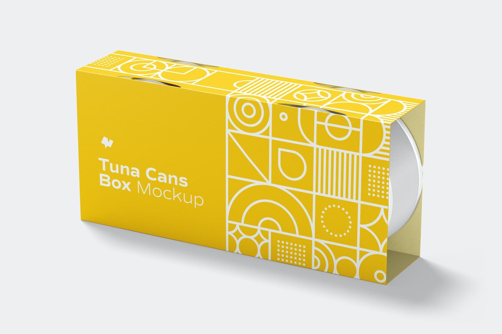 Tuna Cans Box Mockup