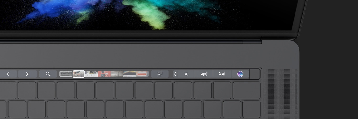 """Clay MacBook Pro 15"""" with Touch Bar, Top View Mockup (8) by Original Mockups on Original Mockups"""