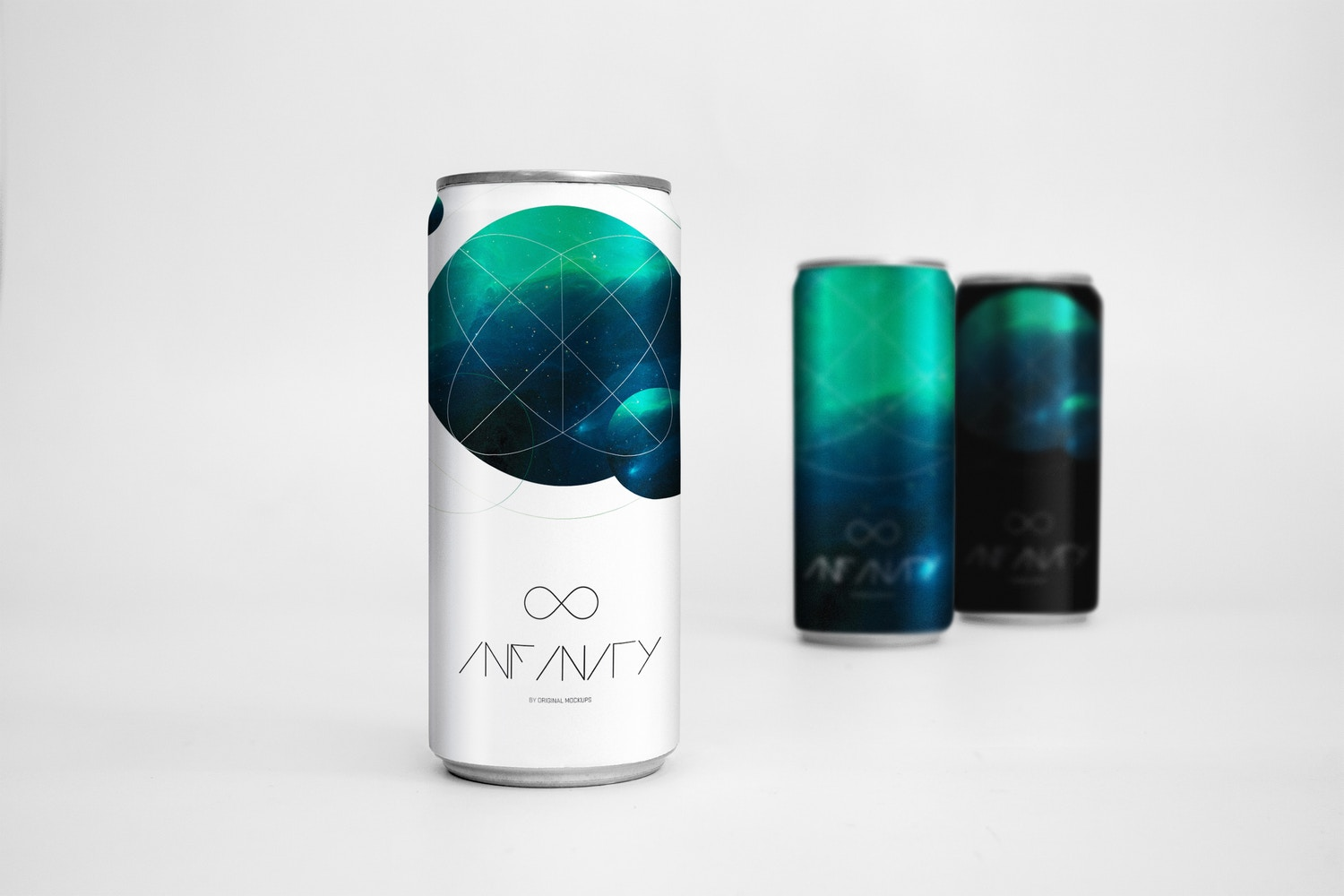 Sleek Cans Mockup 3 by Original Mockups on Original Mockups