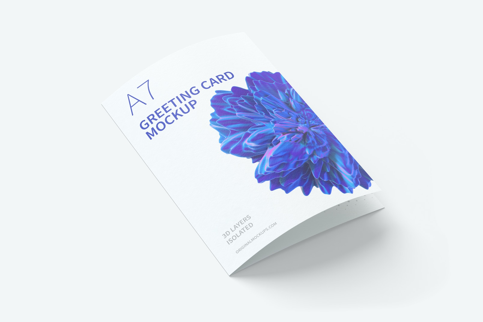 A7 Greeting Card Mockup, Closed, Right View