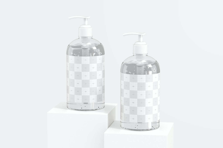 16 oz Sanitizing Gel Bottles Mockup