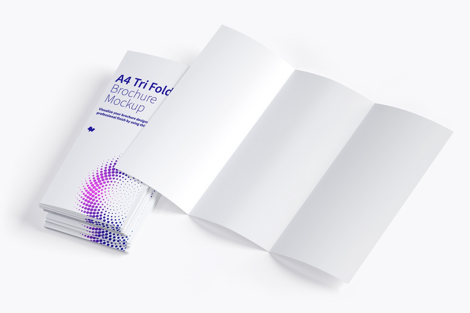 A4 Trifold Brochure Mockup 08 by Original Mockups on Original Mockups