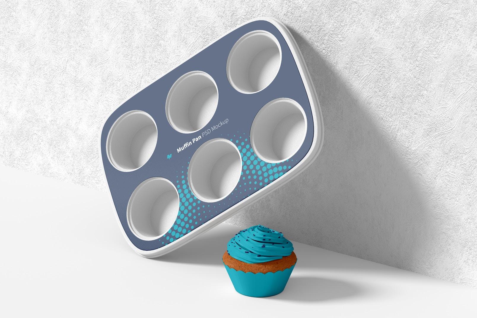 Muffin Pan Mockup, Leaned