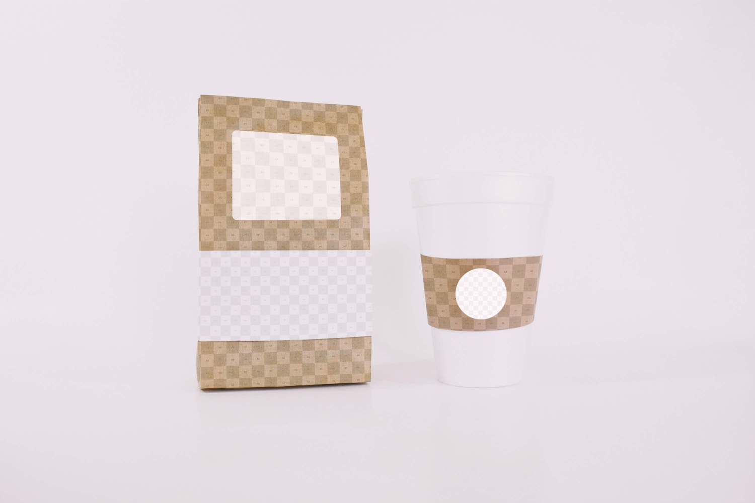Coffee Bag and Cup Mockup (2) por Eduardo Mejia en Original Mockups
