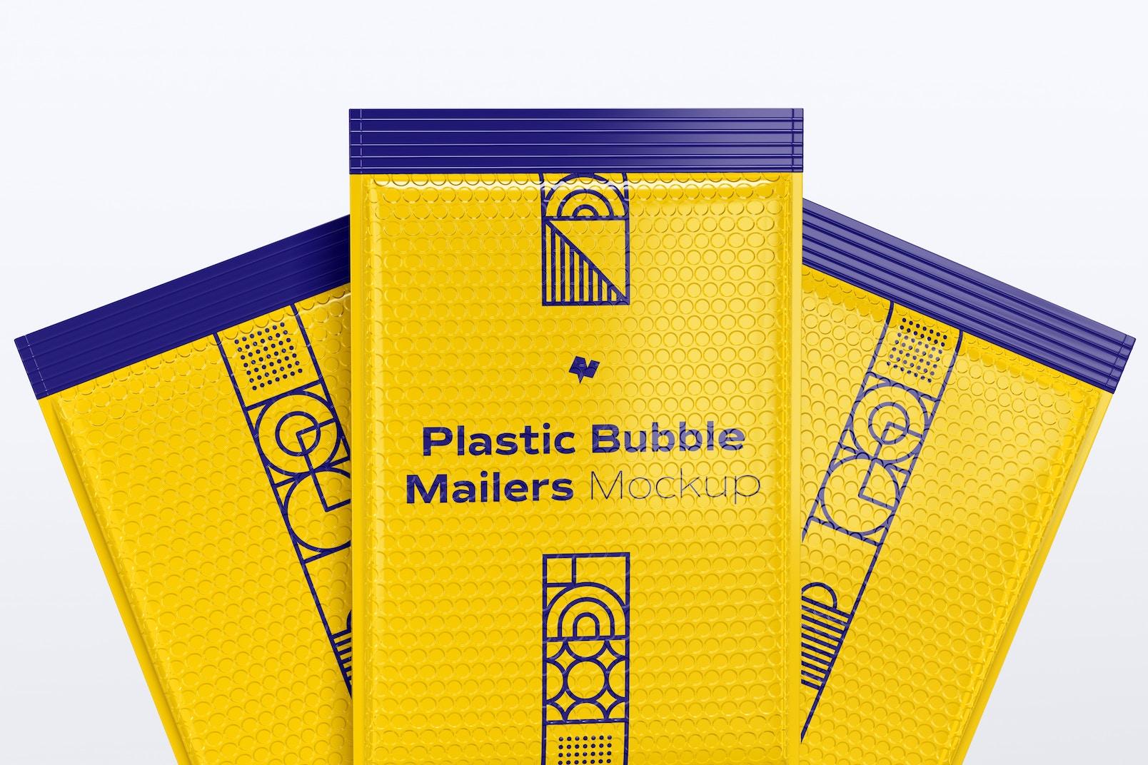 Plastic Bubble Mailers Set Mockup