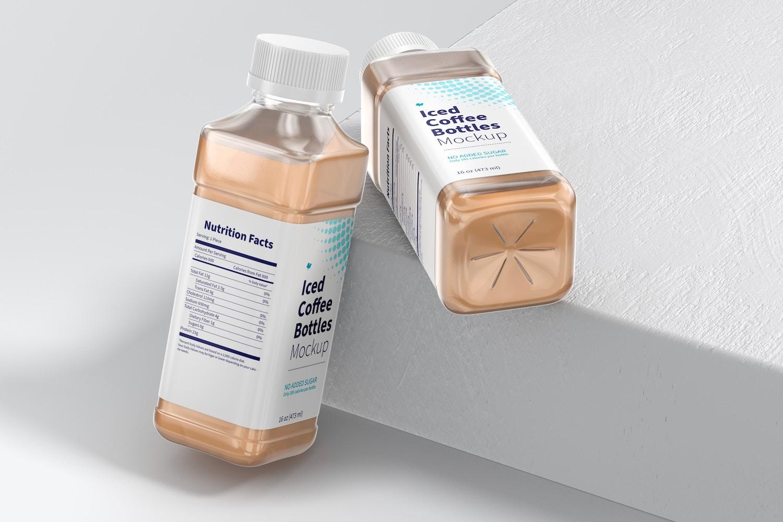 16 oz Iced Coffee Bottles Mockup 02