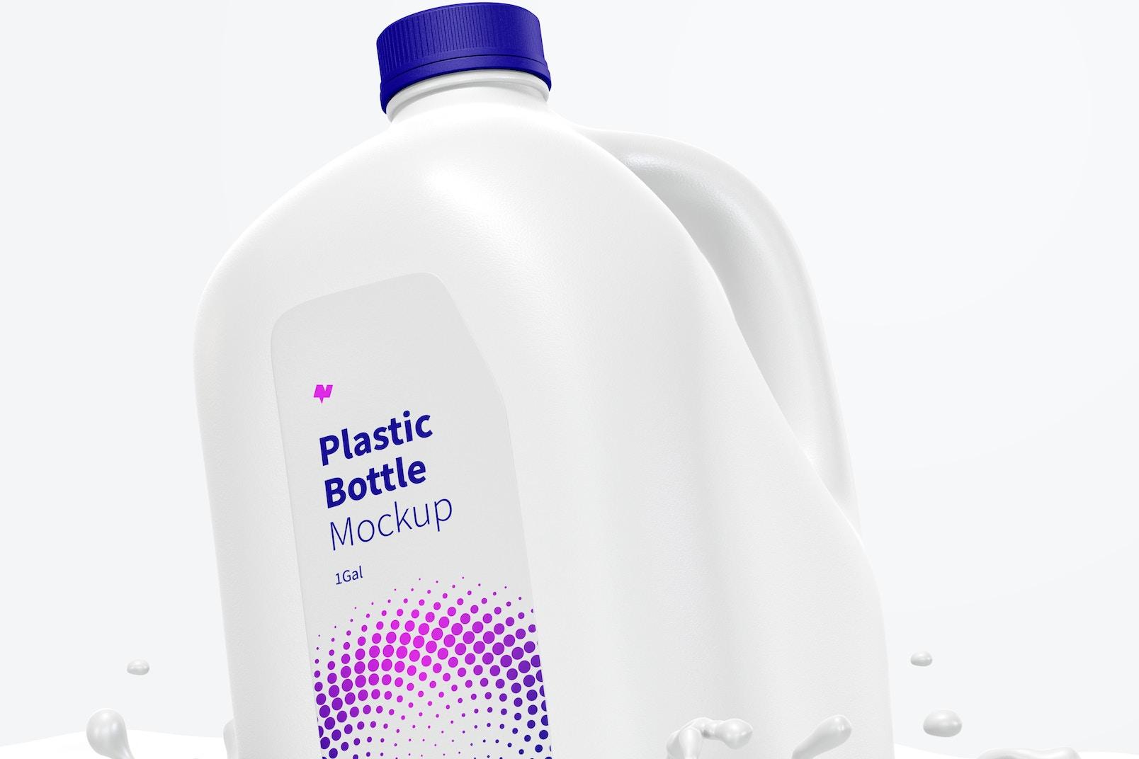 1 gal Plastic Bottle Mockup