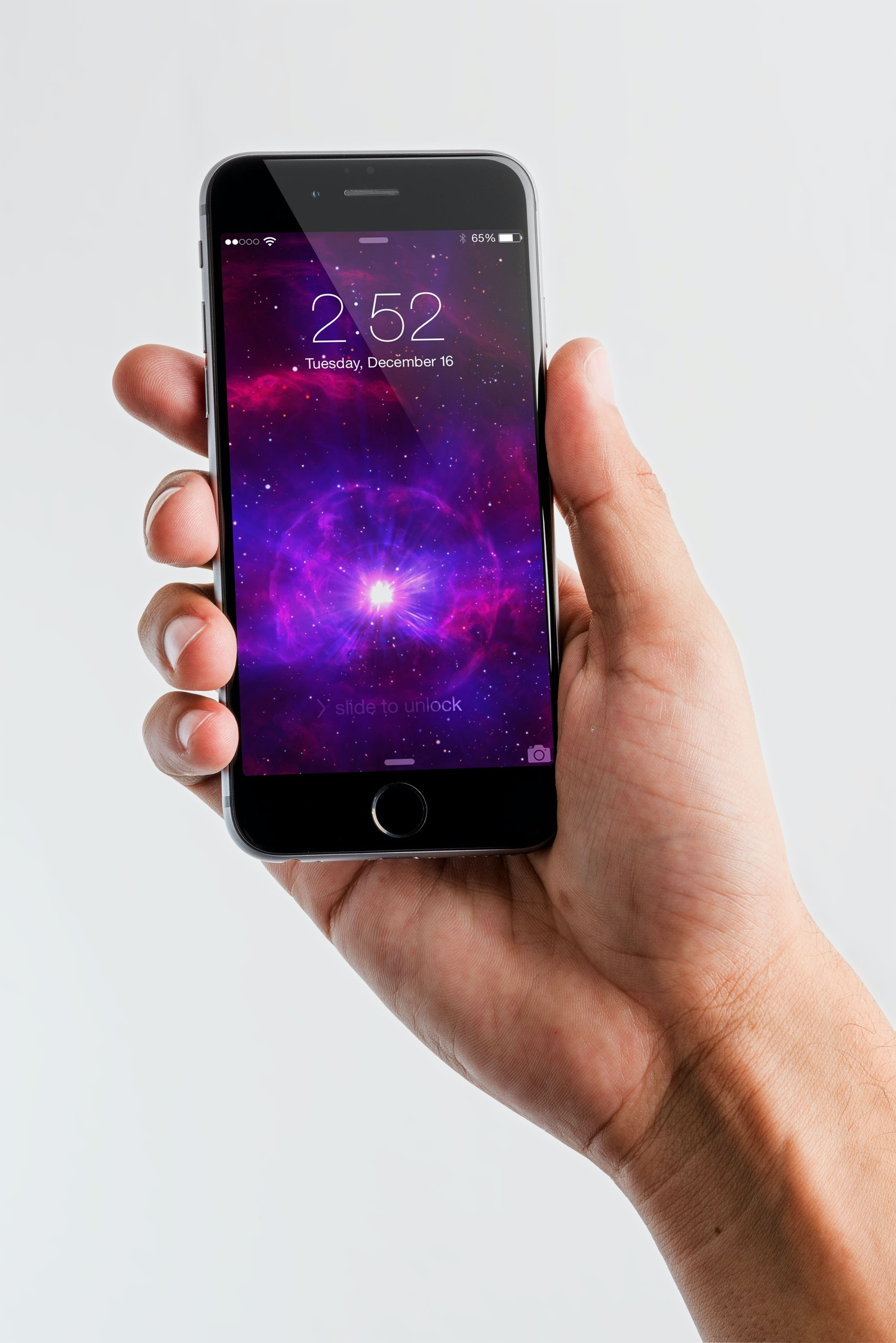 Iphone 6 Spacegray PSD Mockup 05 por Original Mockups en Original Mockups
