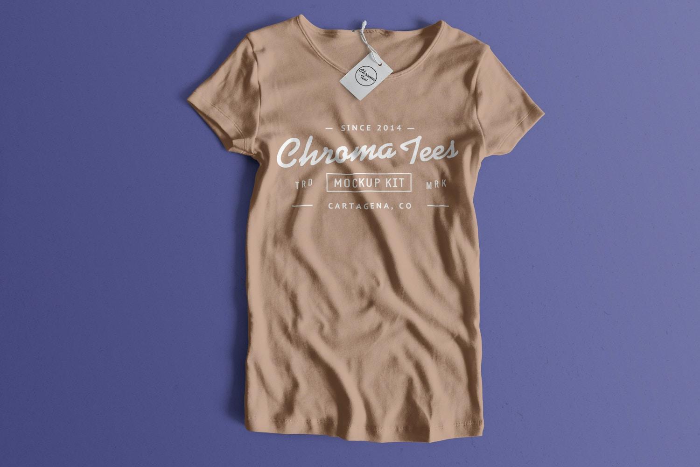 Woman Front T-Shirt Mockup 01 (1) por Antonio Padilla en Original Mockups
