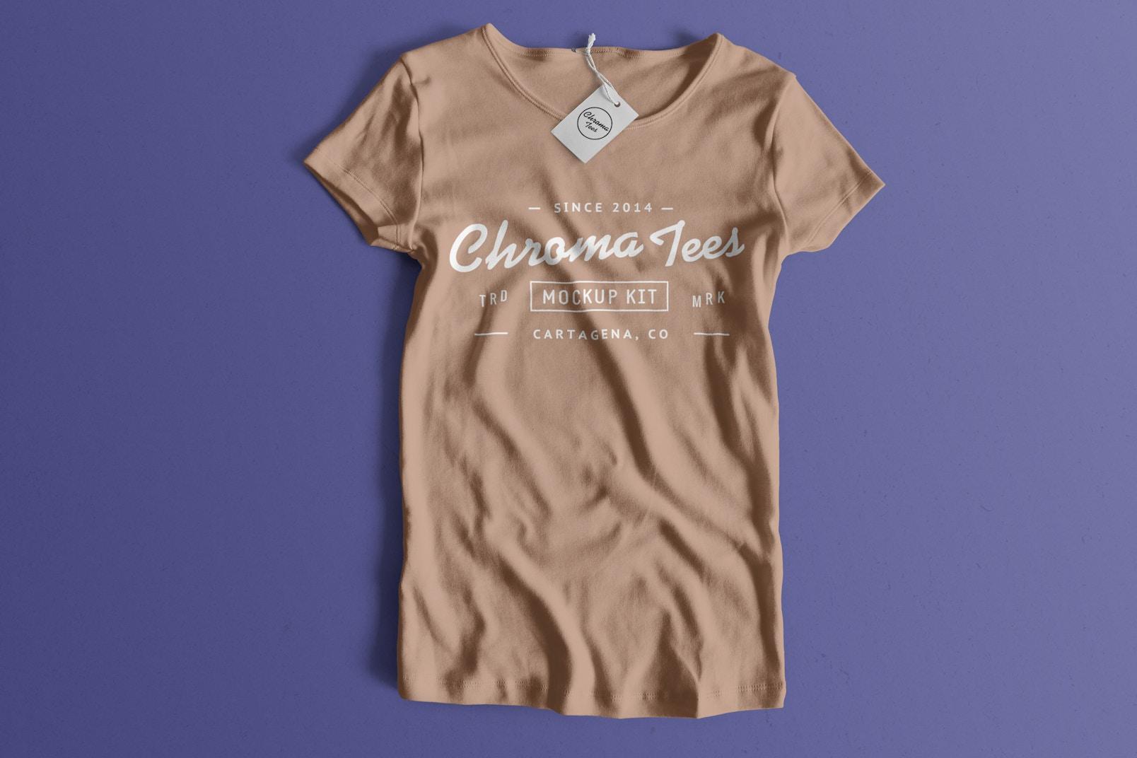 Woman Front T-Shirt Mockup 01