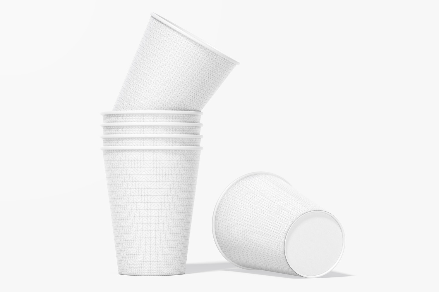 Paper Cups Mockup, Stacked