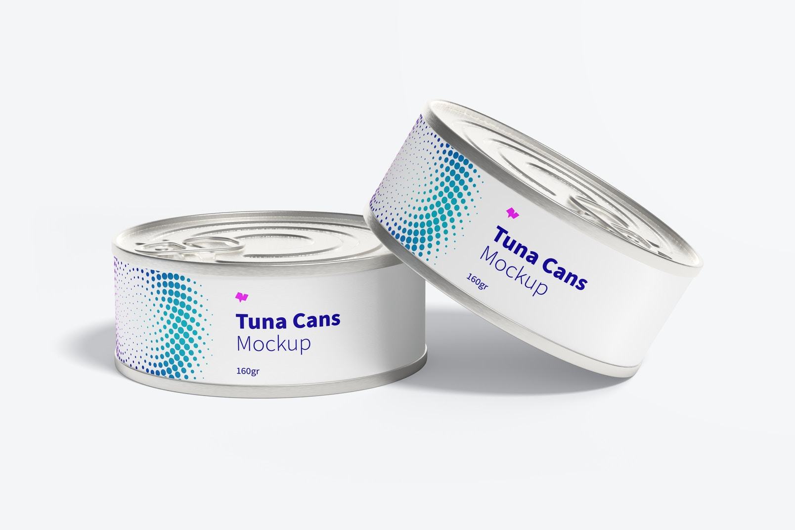 160gr Tuna Cans Mockup, Front View