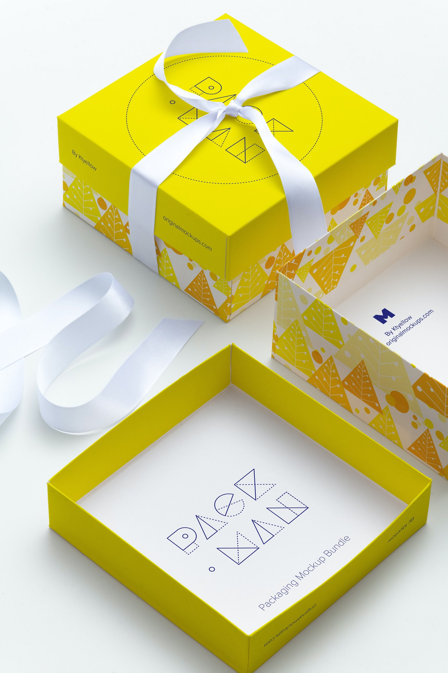 Big Gift Box Mockup 02 by Ktyellow  on Original Mockups
