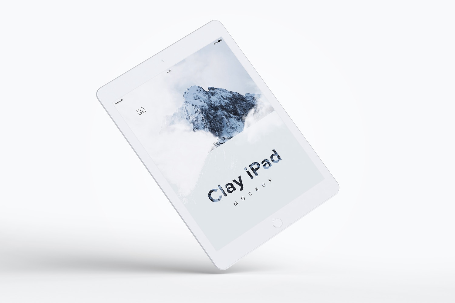 Clay iPad 9.7 Mockup 06 by Original Mockups on Original Mockups
