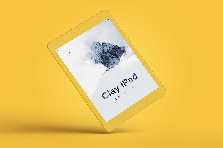 Clay iPad 9.7 Mockup 06