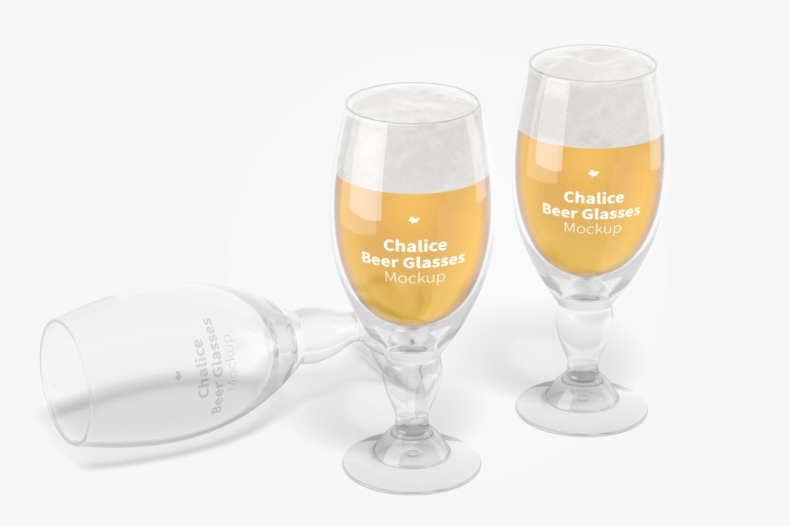 Chalice Beer Glasses Mockup