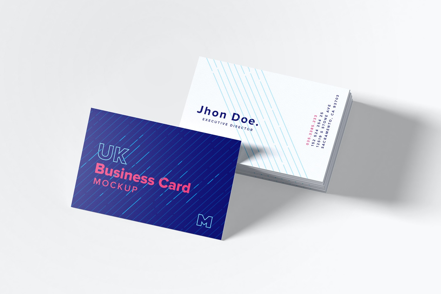 UK Business Cards Mockup 06 by Original Mockups on Original Mockups