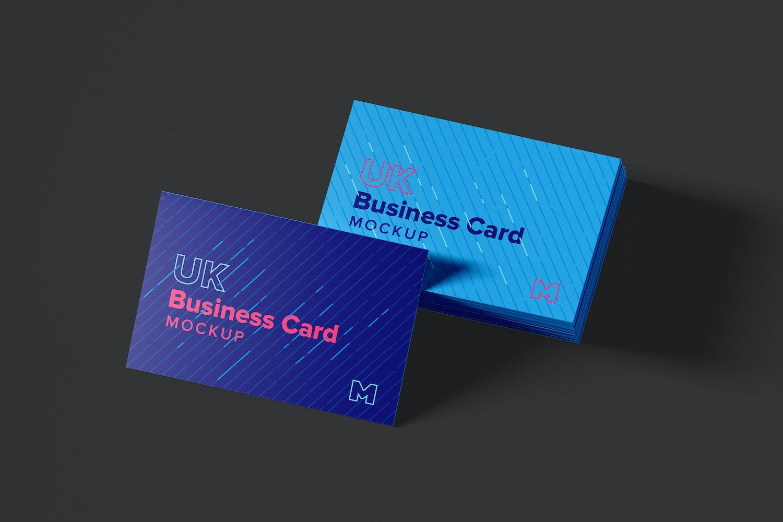 UK Business Cards Mockup 06 (4) by Original Mockups on Original Mockups