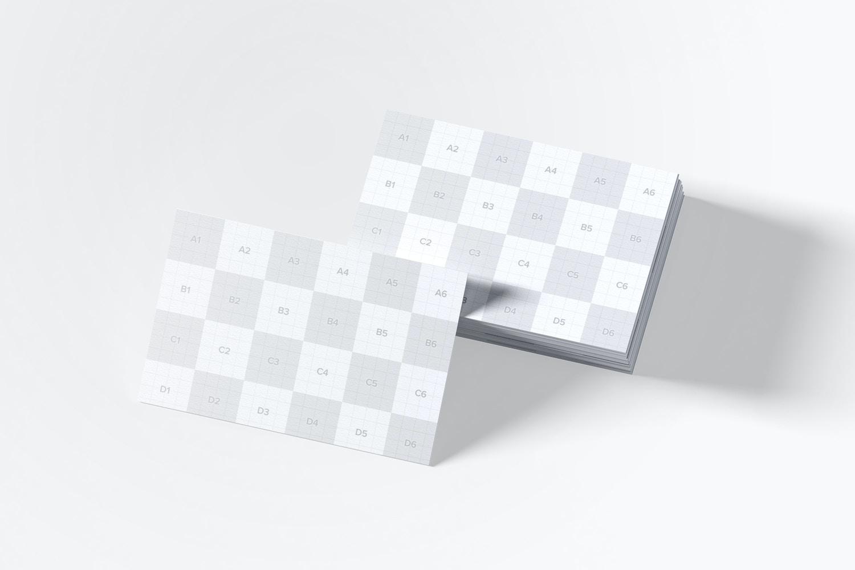 Maqueta de Tarjetas de Presentación Tamaño UK 06