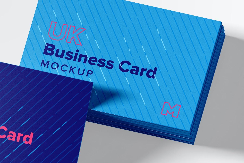UK Business Cards Mockup 06 (2) by Original Mockups on Original Mockups