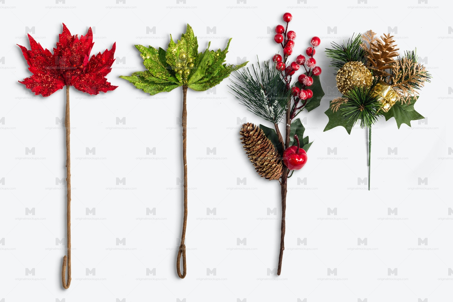 Christmas Flowers Isolate by Original Mockups on Original Mockups