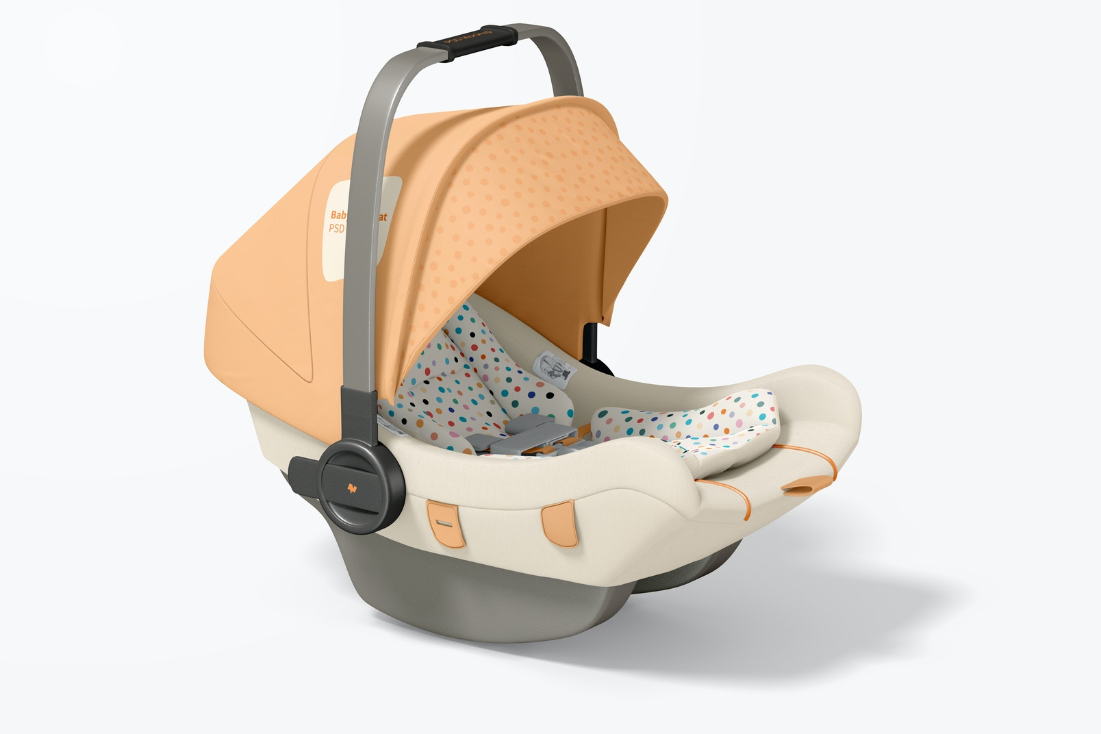 Baby Car Seat Mockup, Right View
