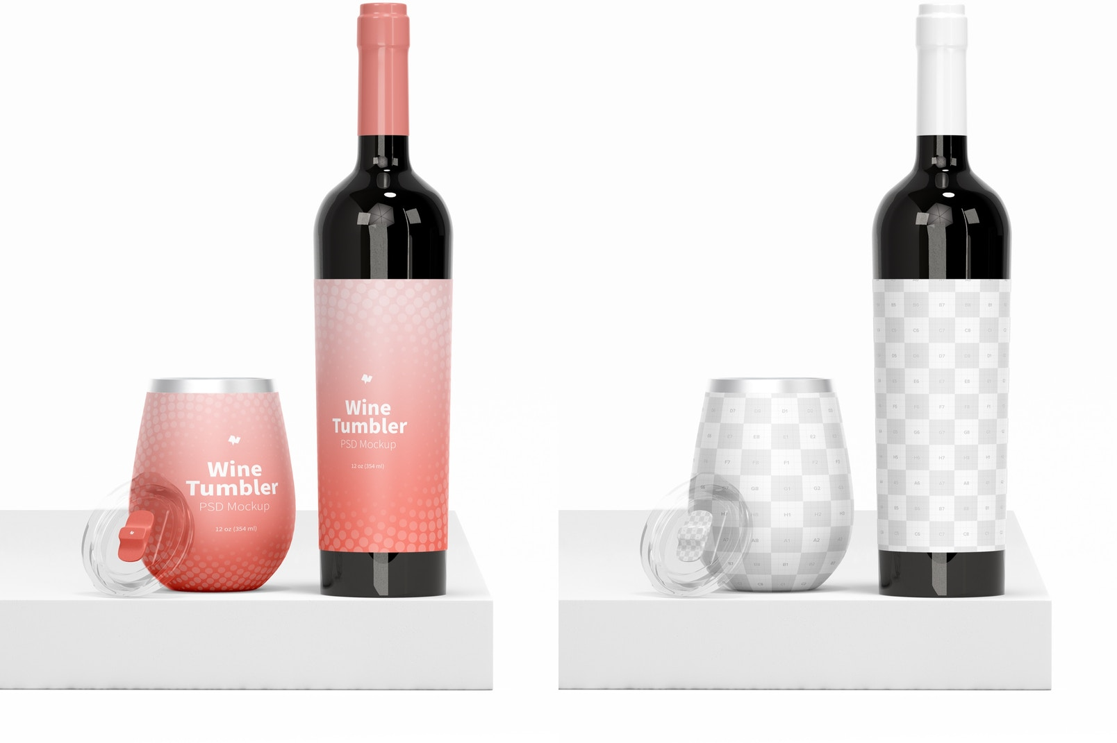 Maqueta de Vaso de Vino de 12 oz
