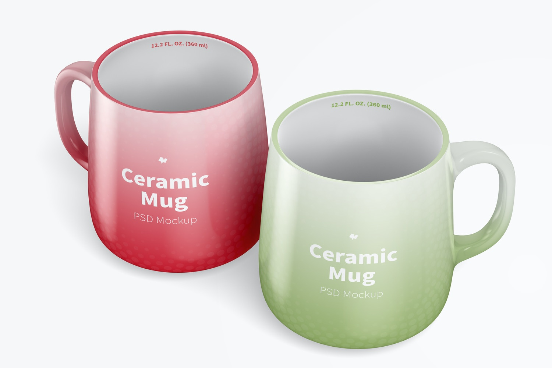12.2 oz Ceramic Mug Mockup, Perspective