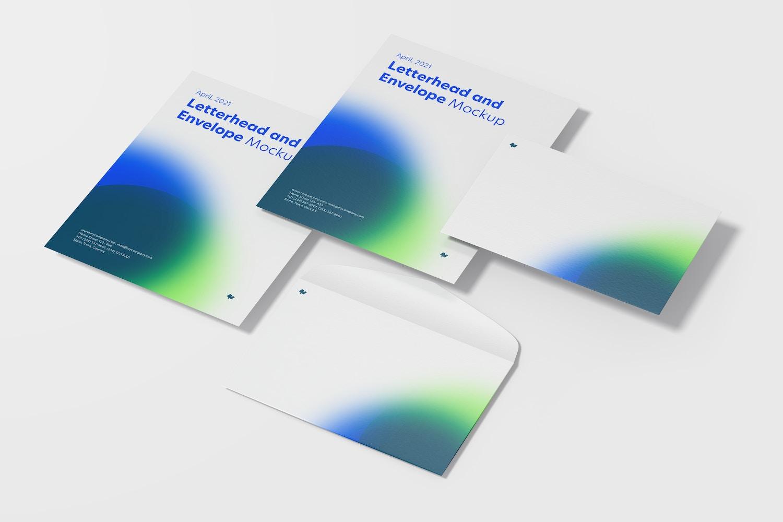Letterhead and Envelope Set Mockup