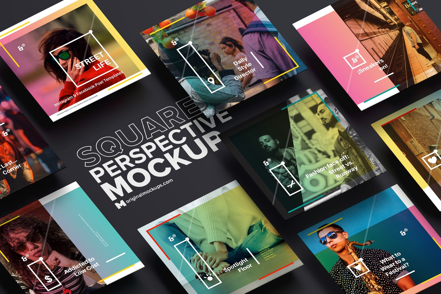 Square Perspective Mockup 01 by Original Mockups on Original Mockups