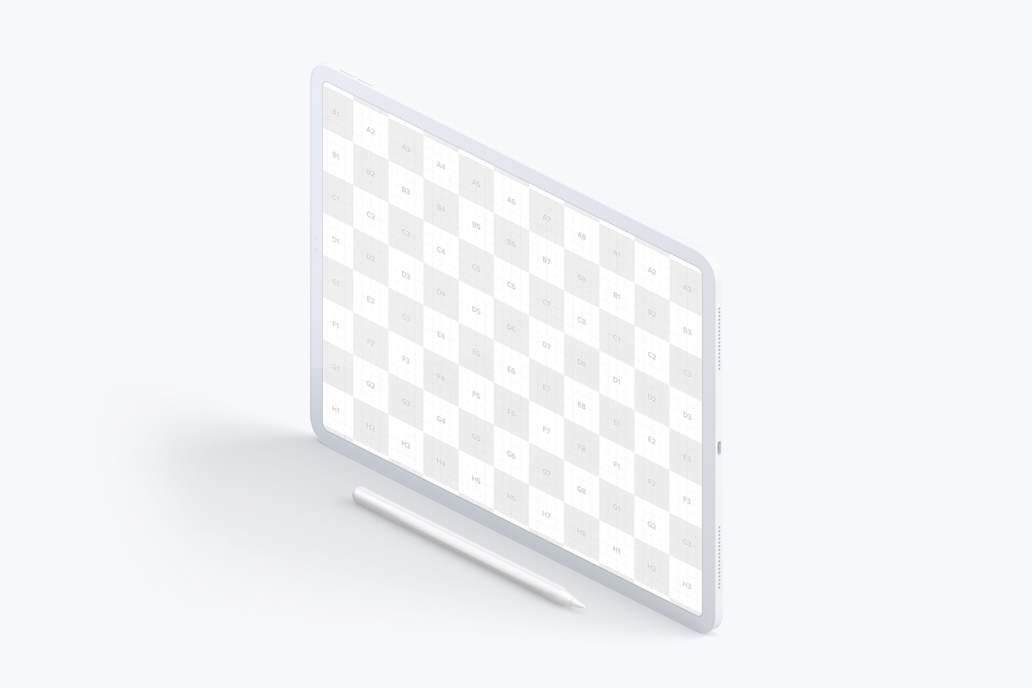 Clay iPad Pro 12.9 Mockup, Isometric Left View 03 (2) by Original Mockups on Original Mockups