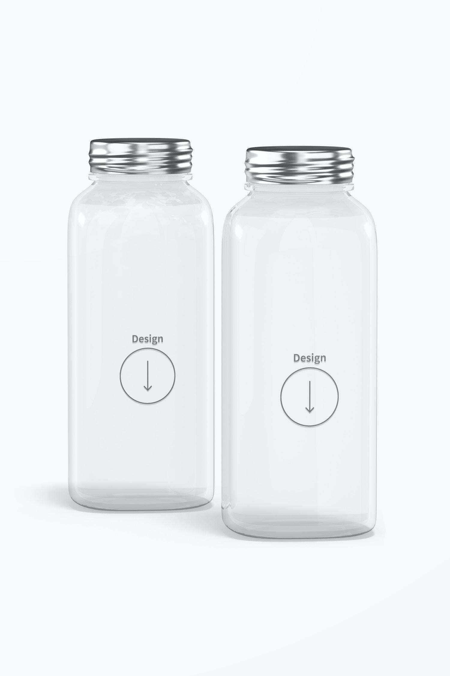 12 oz Glass Bottles Mockup