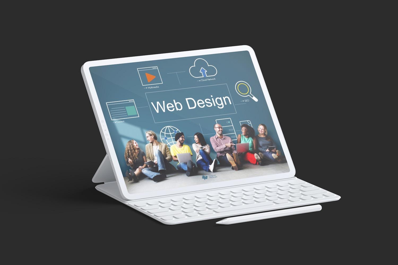 "Clay iPad Pro 12.9"" Mockup, With Key Board"
