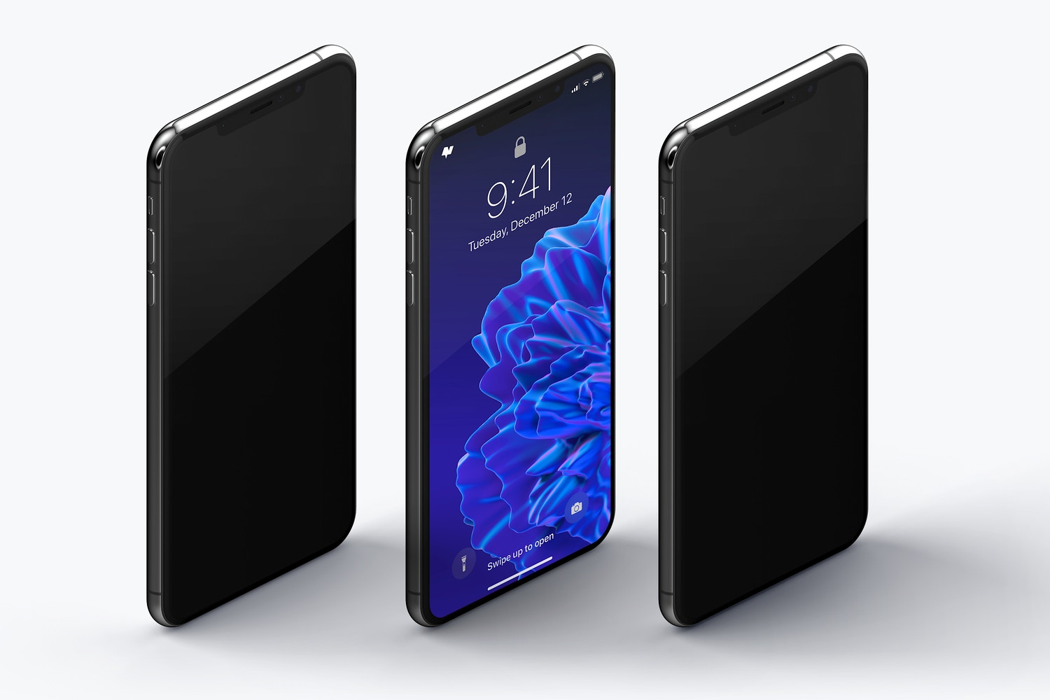 iPhone XS Max Mockup, Isometric Right View 02 (3) by Original Mockups on Original Mockups