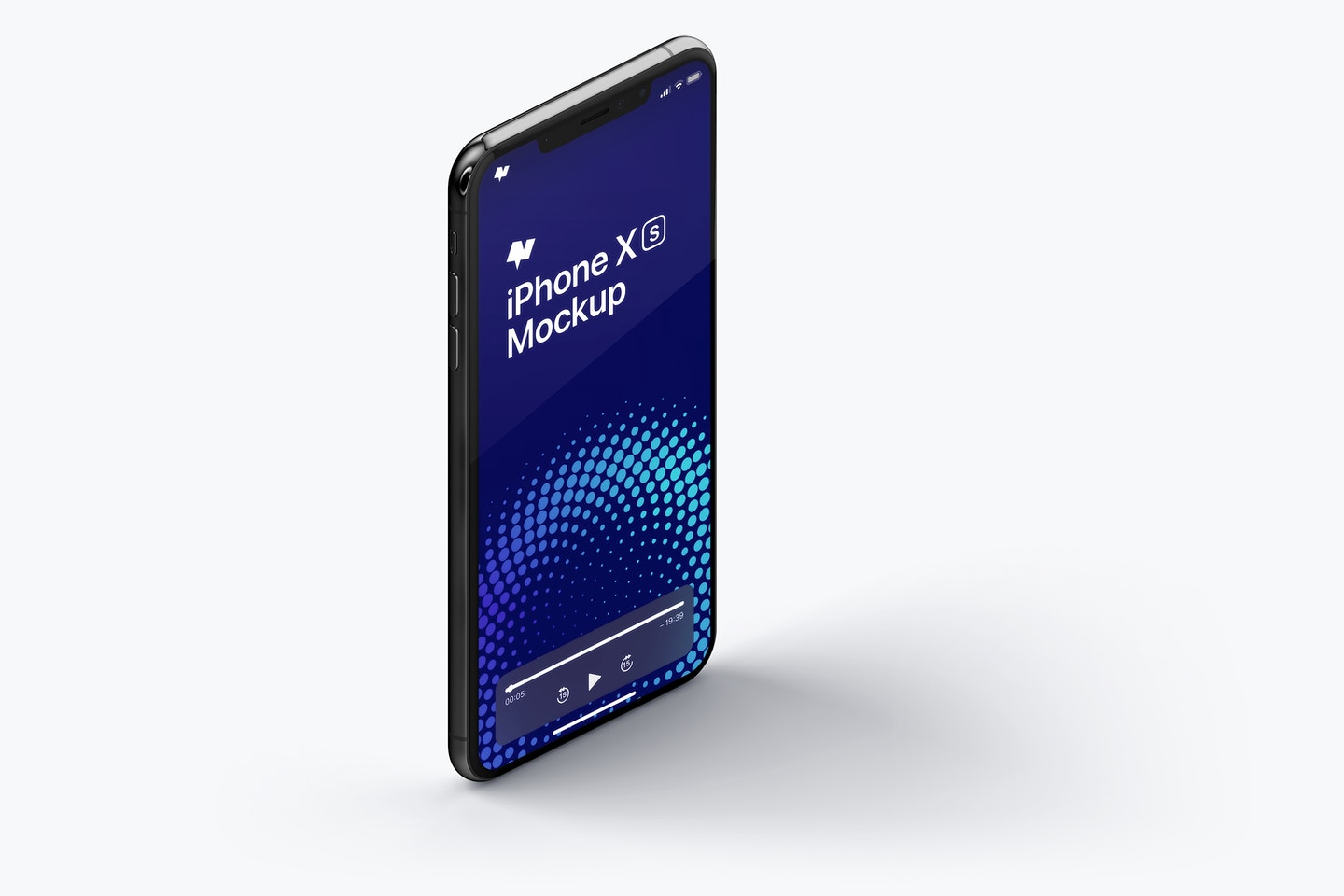 iPhone XS Max Mockup, Isometric Right View 02