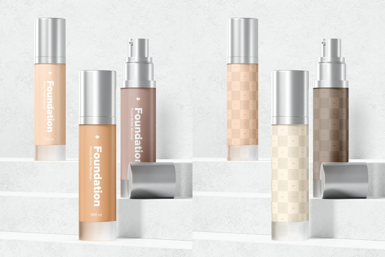 Foundation Pump Bottles Mockup