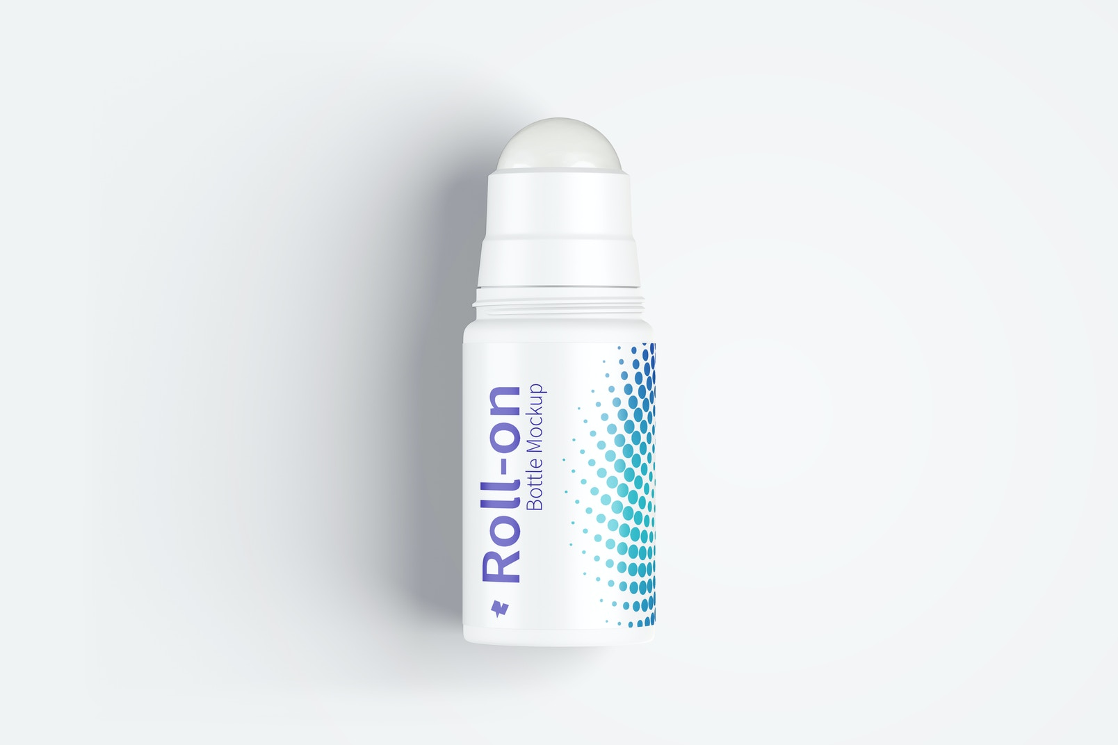Roll-On Bottle Mockup, Top View