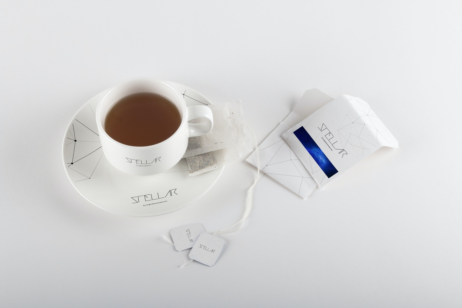 Tea cup and Tea Bags Mockup 01 by Original Mockups on Original Mockups