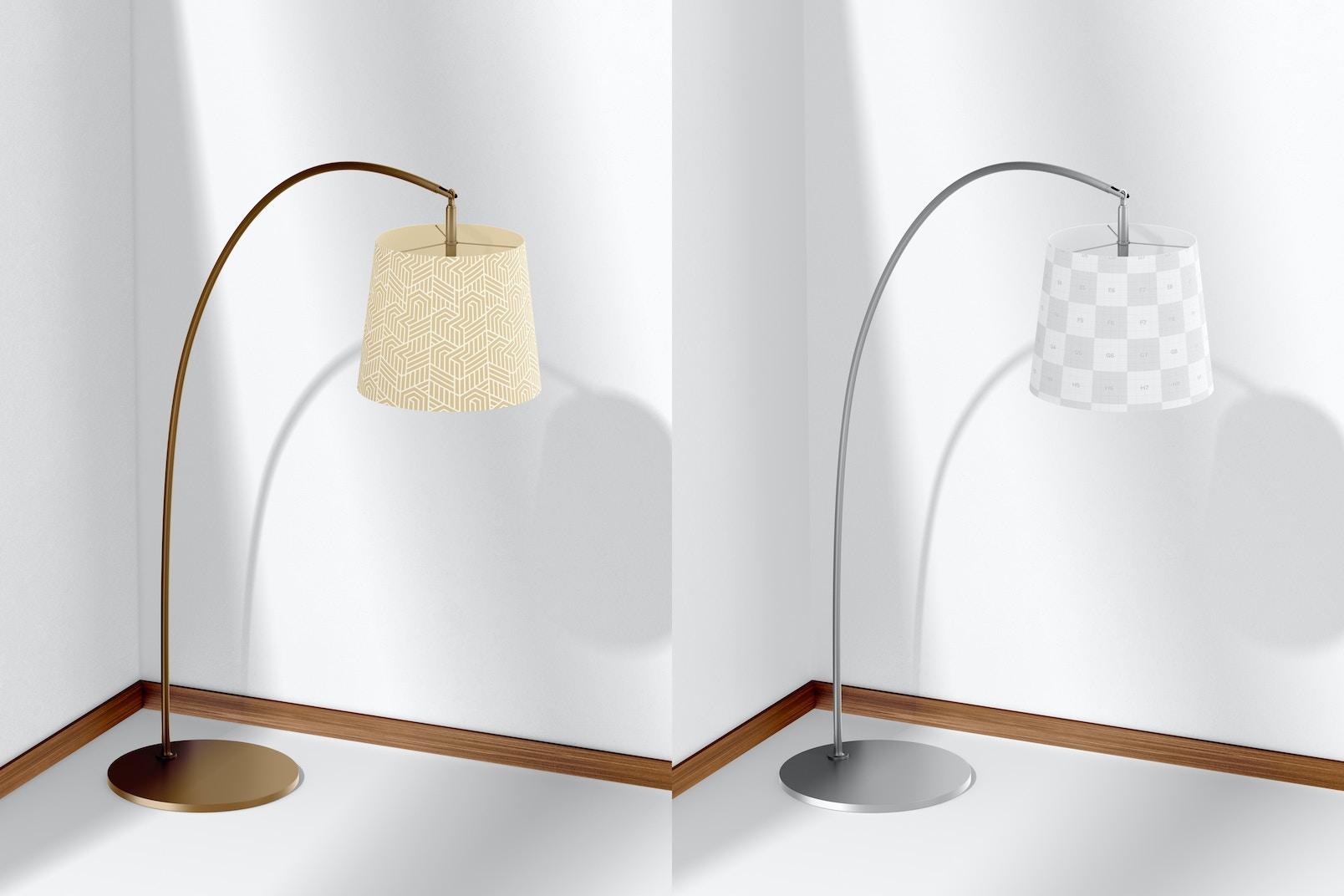 Arc Floor Lamp Mockup, Perspective