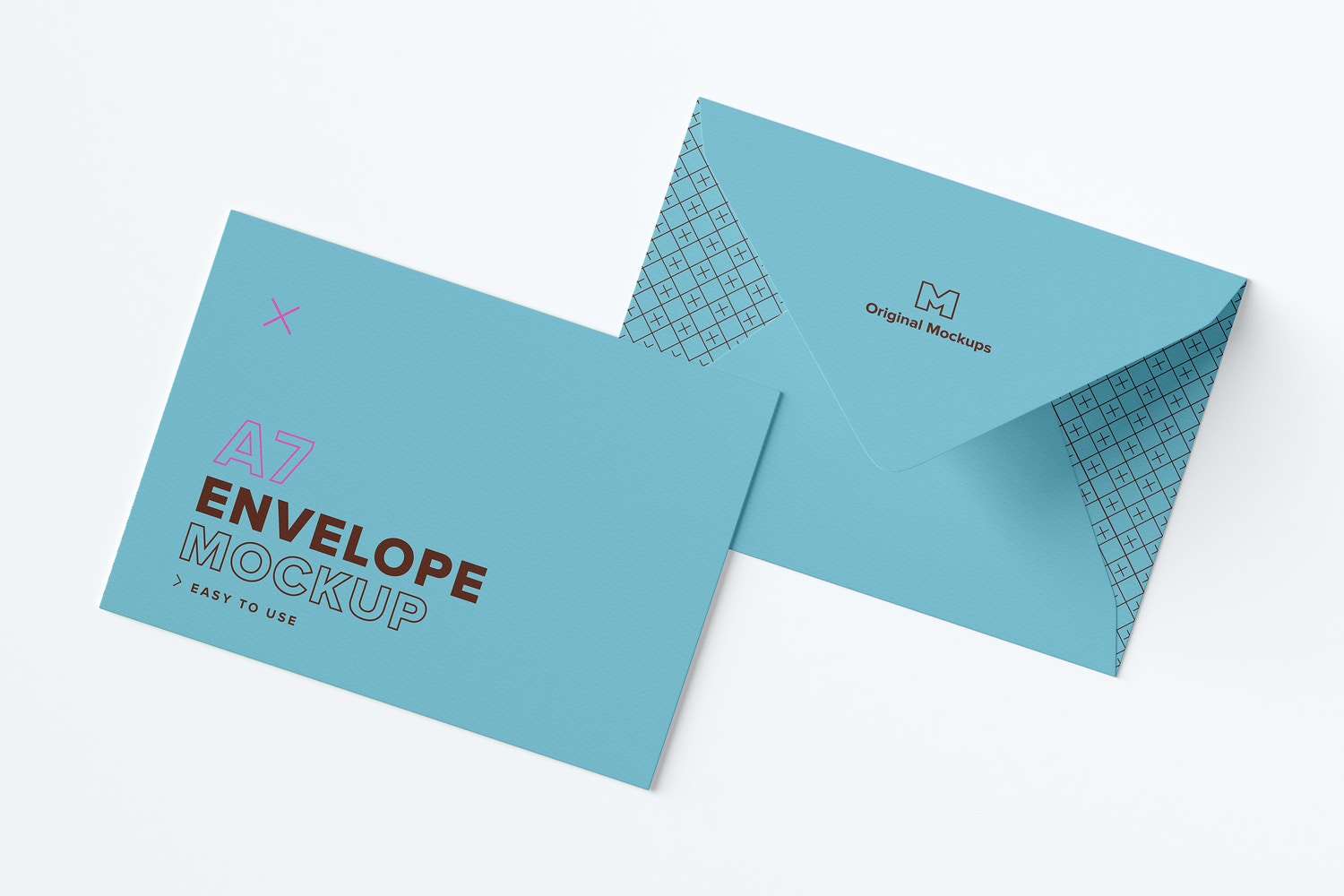A7 Envelope Exterior Layout Mockup by Original Mockups on Original Mockups