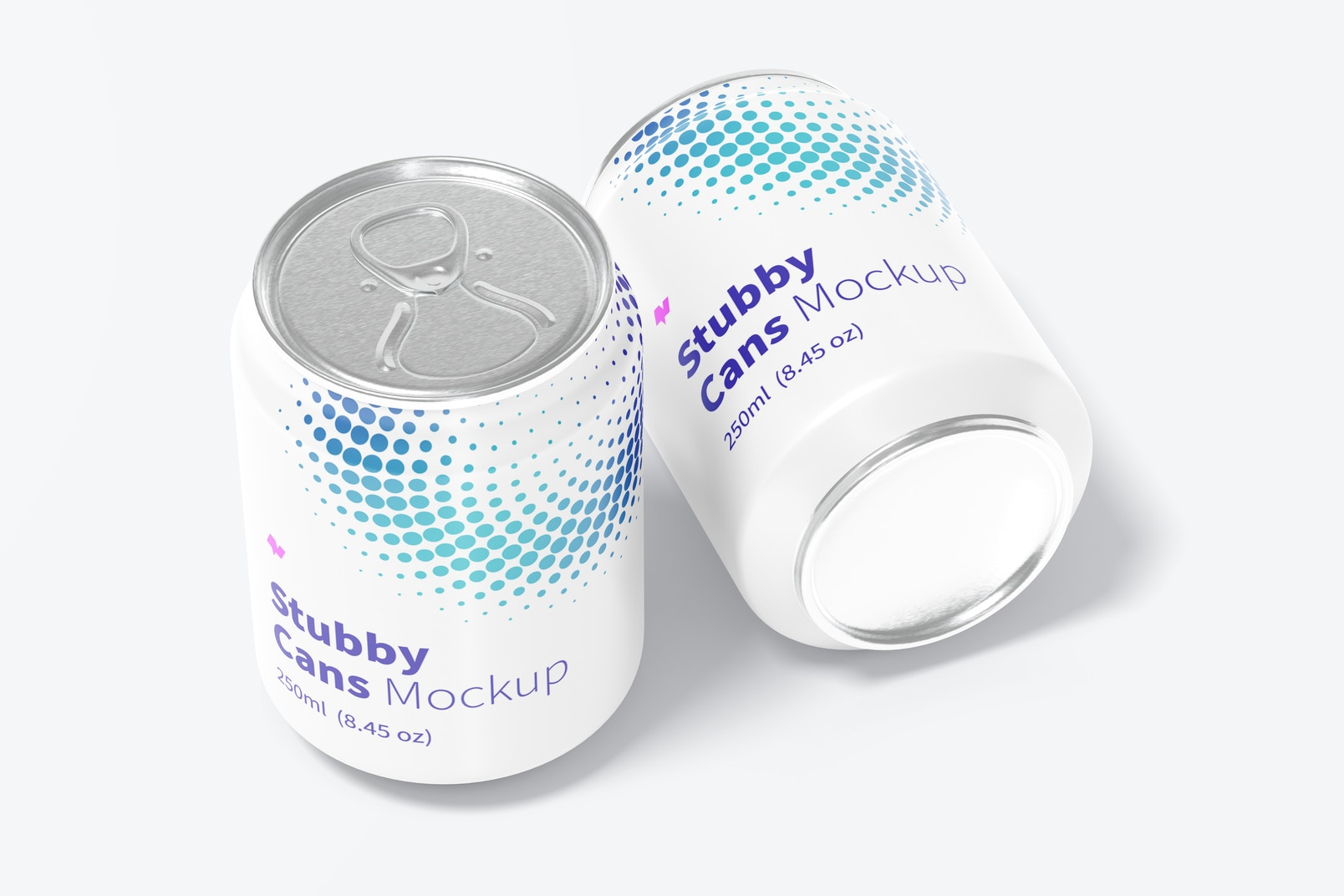 250ml Stubby Cans Mockup