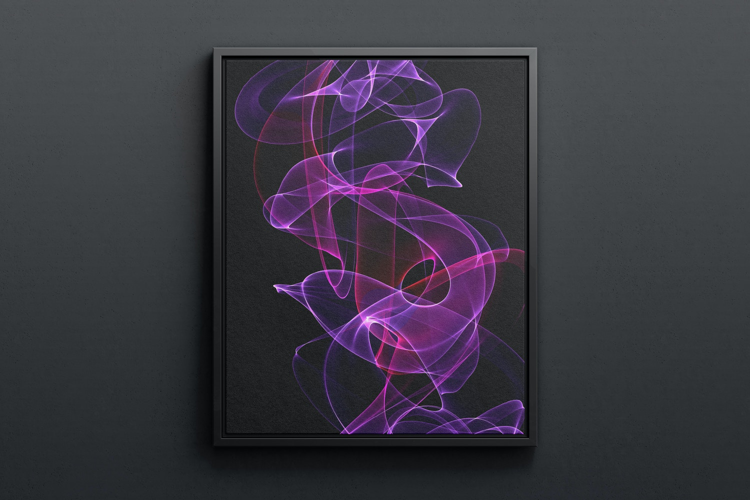 4:5 Portrait Canvas Mockup in Floater Frame, Front View