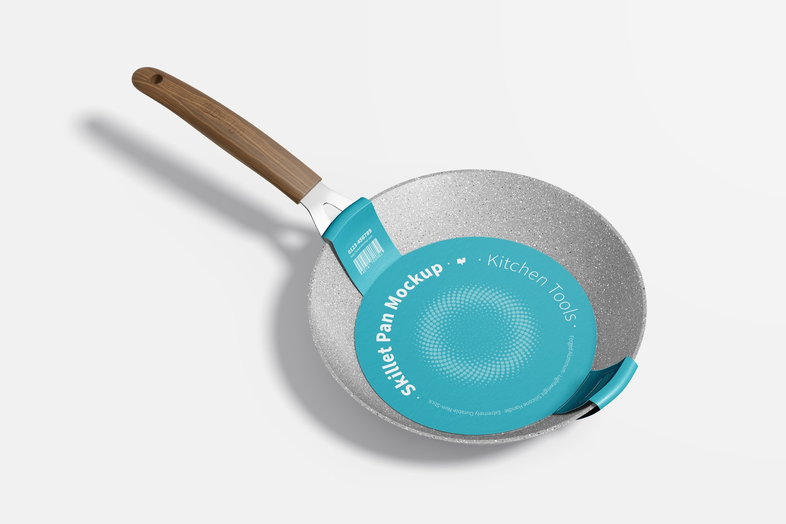 Skillet Pans Mockup, Right View
