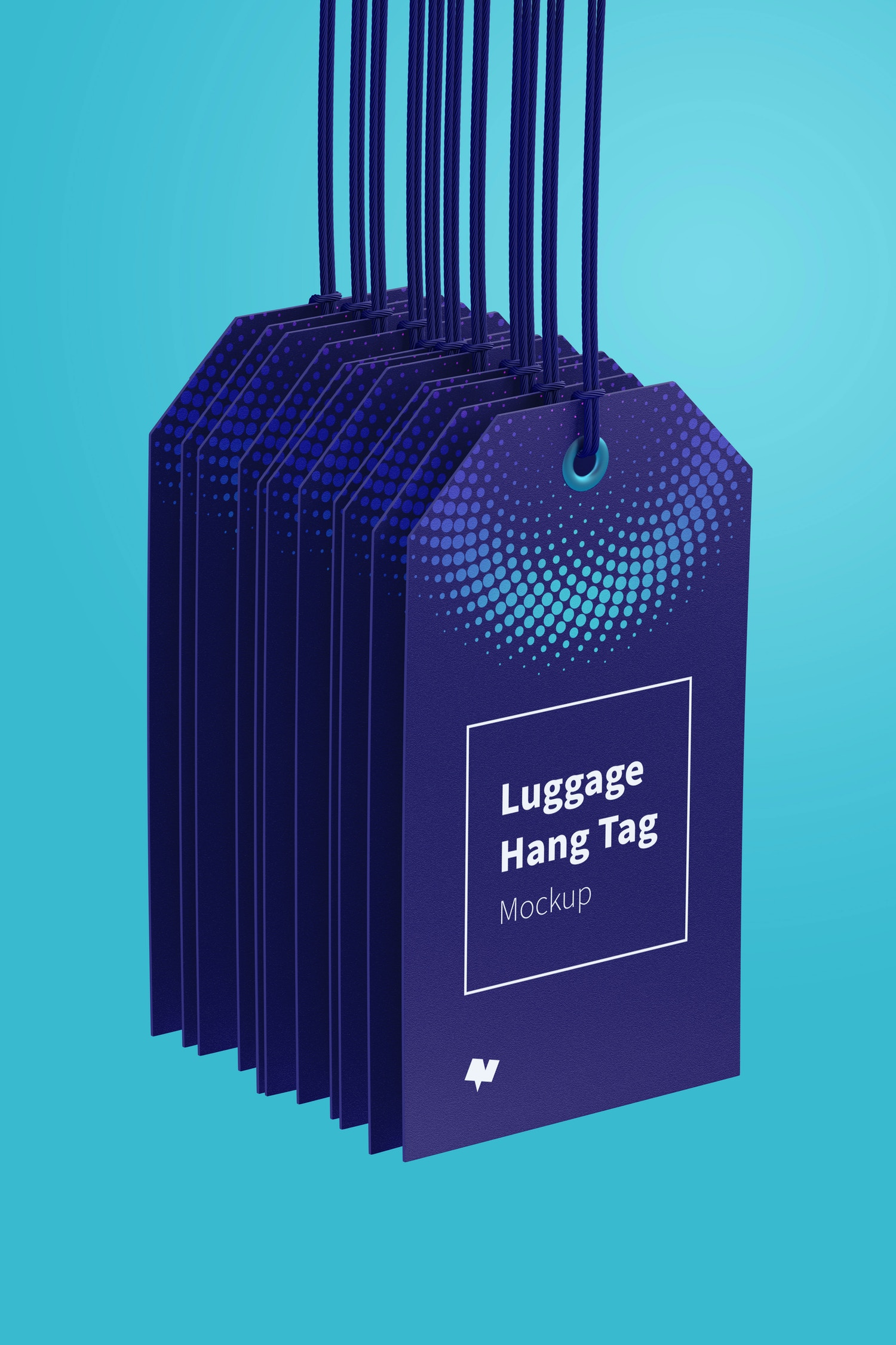 Luggage Hang Tags Mockup with String, Two-sided 04