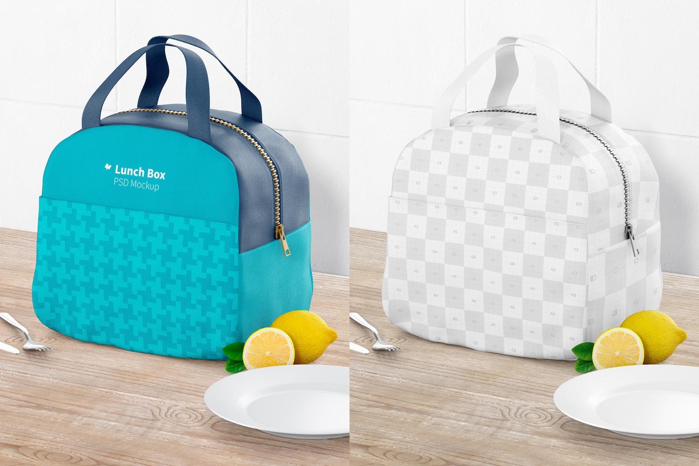Lunch Bag with Front Pocket Mockup