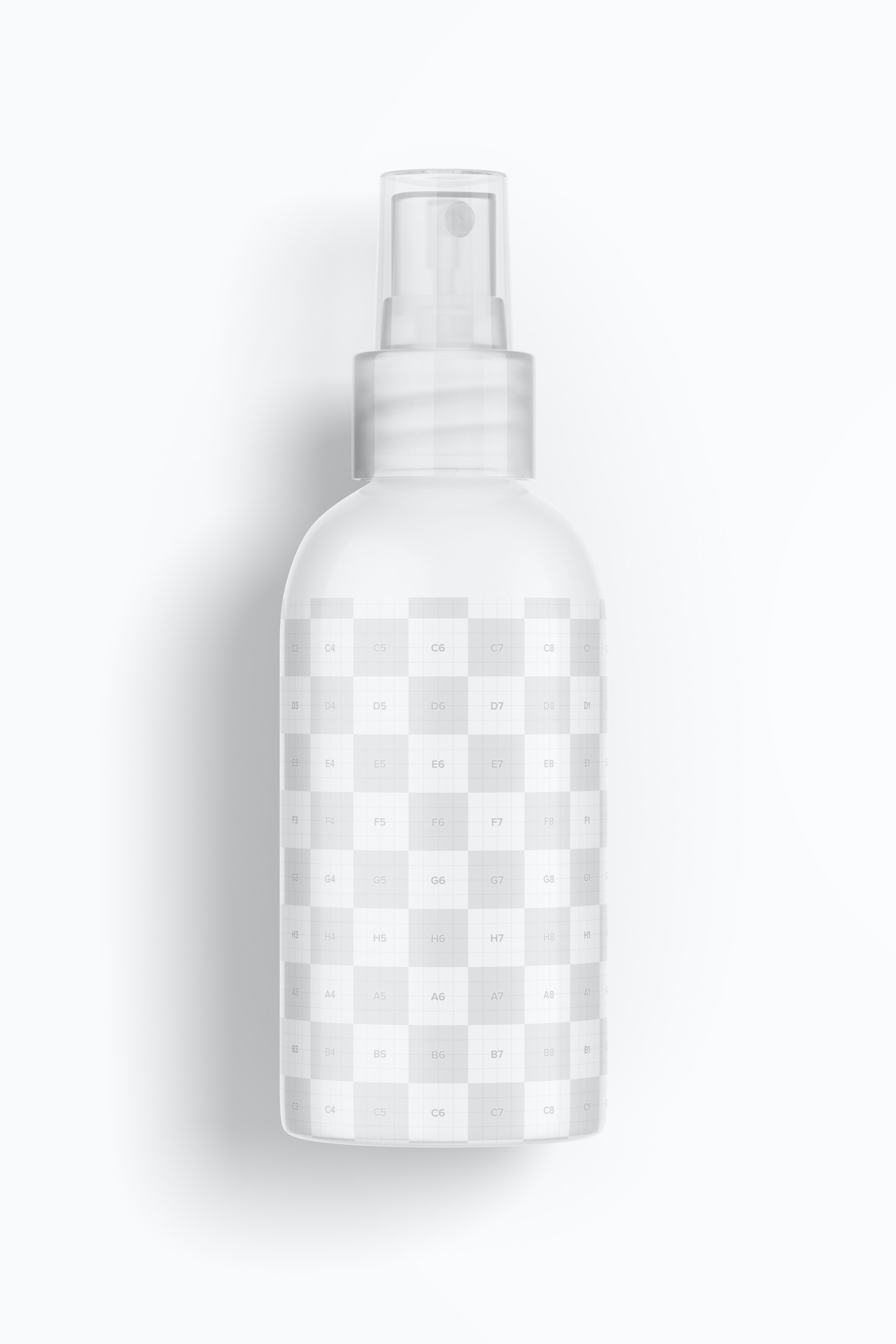 4 oz Spray Rounded 03 Mockup, Top View